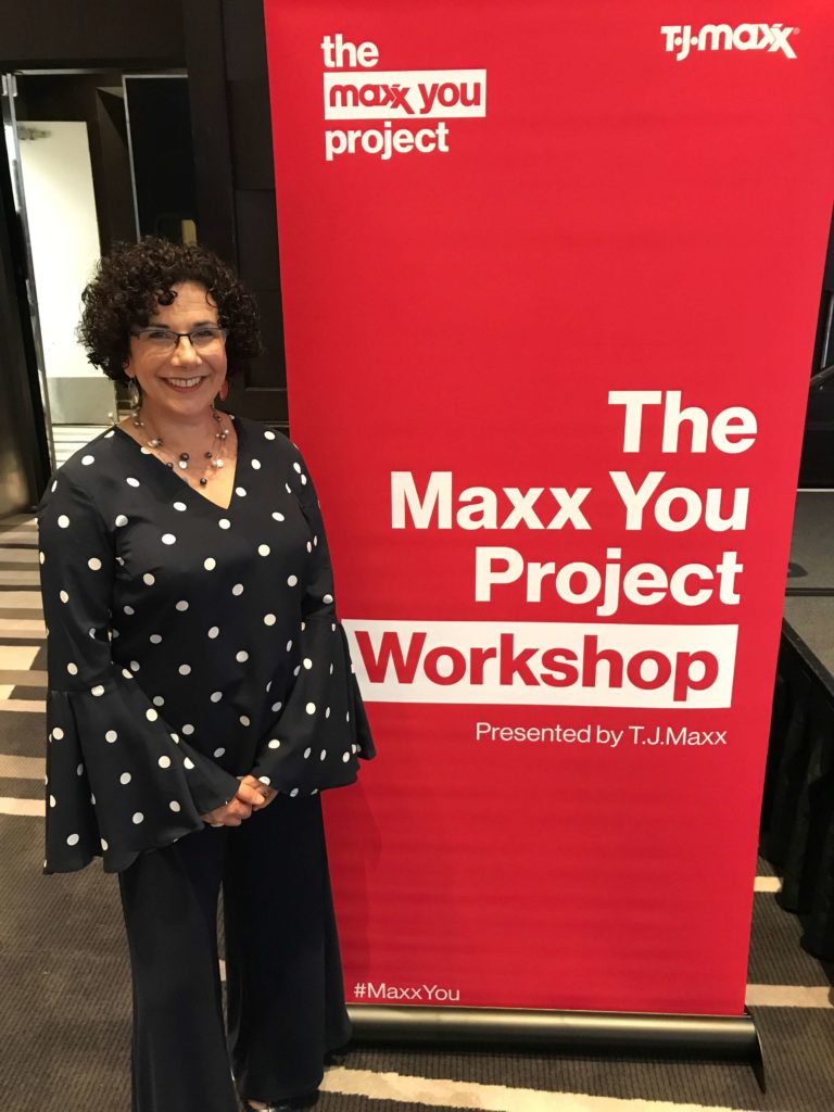 Laura Berman Fortgang at The Maxx You Project Workshop for TJ Maxx