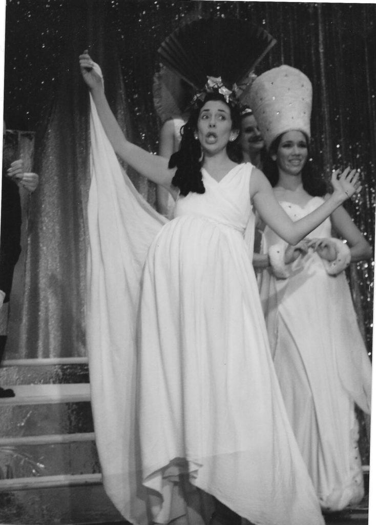 Laura Berman Fortgang in white dress